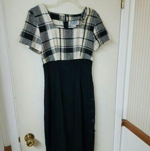 La Belle black & white dress